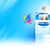 Vector printer background abstract blue texture — Stock Vector