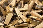 Kupie drewno kominkowe — Zdjęcie stockowe