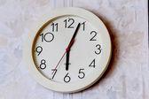 White round wall clock — Stock Photo