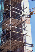 Scaffolding on the building — Stock Photo