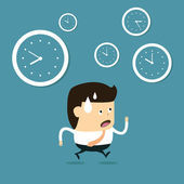 La gestión del tiempo — Vector de stock