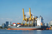 El buque de carga puerto — Foto de Stock