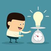 Idea Balance concept — Stock Vector