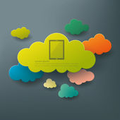 Cloud computing abstract background concept — Stock Vector