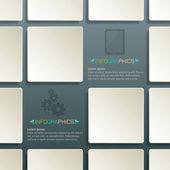 表方形布局抽象背景模板放数据和信息,商务信息图形标记标签棕色广场 — 图库矢量图片
