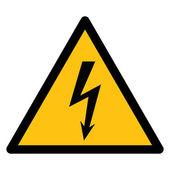 Warning sign, BEWARE HIGH VOLTAGE — Stockvektor