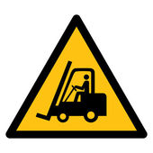 Warning sign, BEWARE FORKLIFT — Stock Vector