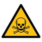 Warning sign, BEWARE TOXIC CHEMICAL — Stockvektor