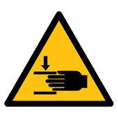 Warning sign HAND INJURY — Vecteur