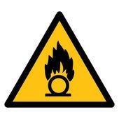 Warning sign OXIDISING MATERIAL — Stockvektor