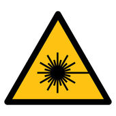 WARNING FOR LASER BEAM — Stock Vector
