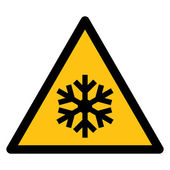 Warning sign LOW TEMPERATURES — Stock Vector