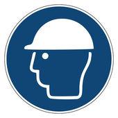 Mandatory action sign, Ware head protection — Vecteur