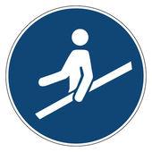 Mandatory action sign,USE HANDRAIL — Stockvector