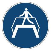 Mandatory action sign,USE FOOTBRIDGE — Stockvektor