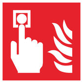 Fire safety sign FIRE ALARM CALL POINT — Stock Vector