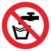 Prohibition sign NO POTABLE WATER — Stock Vector