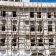 Construction site with scaffolding — Stock Photo