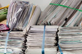 Pile of documents — Stock Photo
