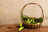 Vegetables in the basket. — Stock Photo