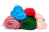 Different color silk threads — Stock Photo