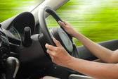 Driving a car — Stock Photo
