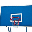 Stock Photo: Basketball hoop on white