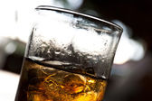 Close-up of glass with whiskey — Stock Photo