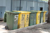 Row of large bins — Stock Photo