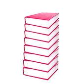 Pile de livres rouges — Photo