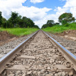 Stock Photo: Railroad track and sky