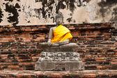 Buddha statue in Wat Yai Chai Mongkol. public temple in Ayuttaya — Photo