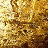 Gold leaf on buddha sculpture — Stock Photo