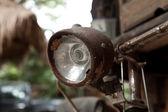 锈迹斑斑的老式自行车细节 — 图库照片