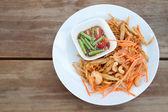 Thai papaya salad , Som Tum from Thailand — Stock Photo