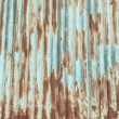 Stock Photo: Rusted galvanized iron plate