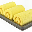 Orange cake roll — Stock Photo