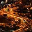 Curve street at night,View point of Pattaya city — Stock Photo