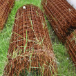 Rusty wire mesh steel — Stock Photo