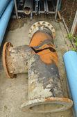Rusty steel pipe — Stock Photo