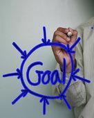 Handwriting goal concept — ストック写真