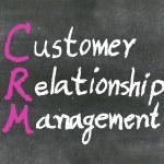 """CRM"" on a blackboard — Stock Photo"
