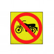Traffic warning sign - no bikes,mopeds allowed — Stock Photo