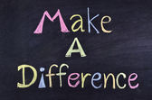 """make a difference"" handwritten on blackboard — Stock Photo"