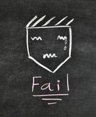 Fail and unhappy face — 图库照片