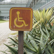 Accessible disabled parking sign — Stock Photo #33980411