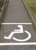 Disabled sign on pathway — Stock Photo