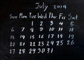 "Calendar ""july 2014"" — 图库照片"