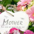 Mothers day heart with flowers — Stock Photo #13470826