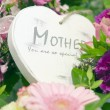 Mothers day heart with flowers — Stock Photo #13470828
